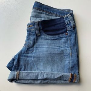 J. Crew Maternity Denim Short ( side panel )